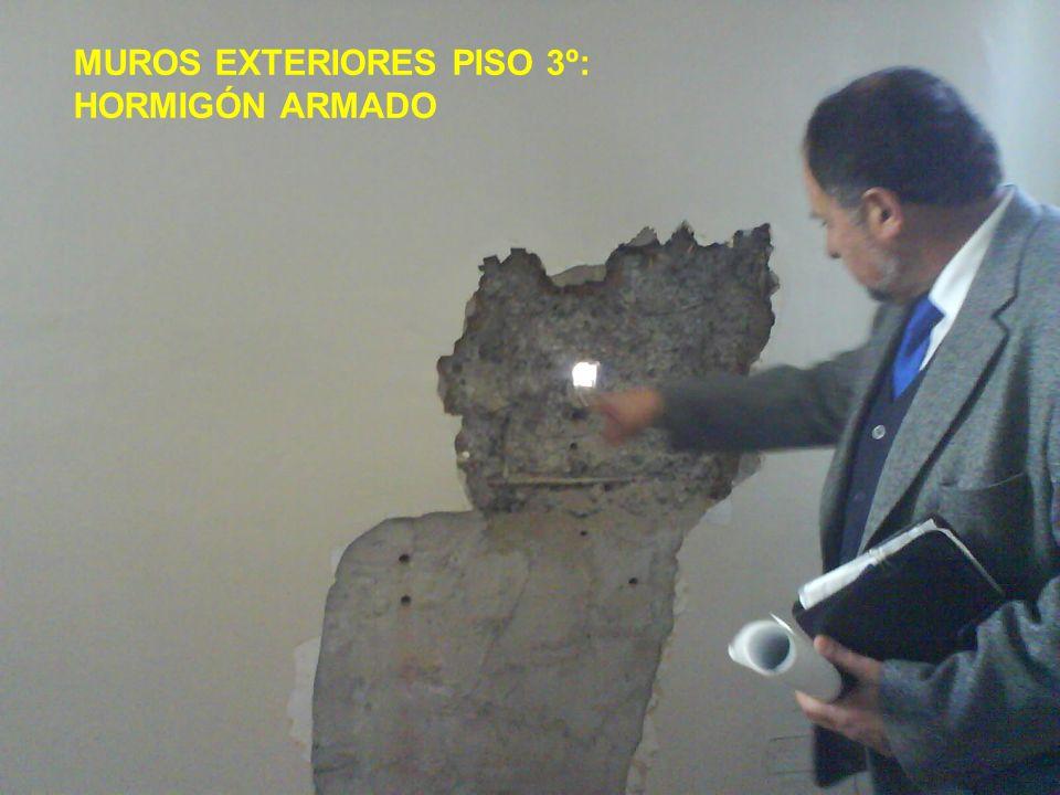 MUROS EXTERIORES PISO 3º: HORMIGÓN ARMADO