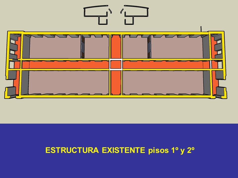 ESTRUCTURA EXISTENTE pisos 1º y 2º