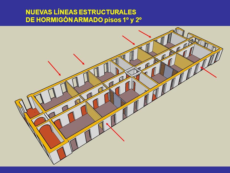 NUEVAS LÍNEAS ESTRUCTURALES DE HORMIGÓN ARMADO pisos 1º y 2º