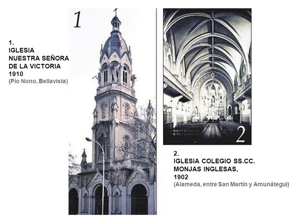 3.TORRES Y FACHADA IGLESIA DE SAN IGNACIO 1899 (San Ignacio esquina Alonso Ovalle) 4.