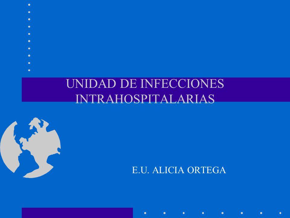 UNIDAD DE INFECCIONES INTRAHOSPITALARIAS E.U. ALICIA ORTEGA