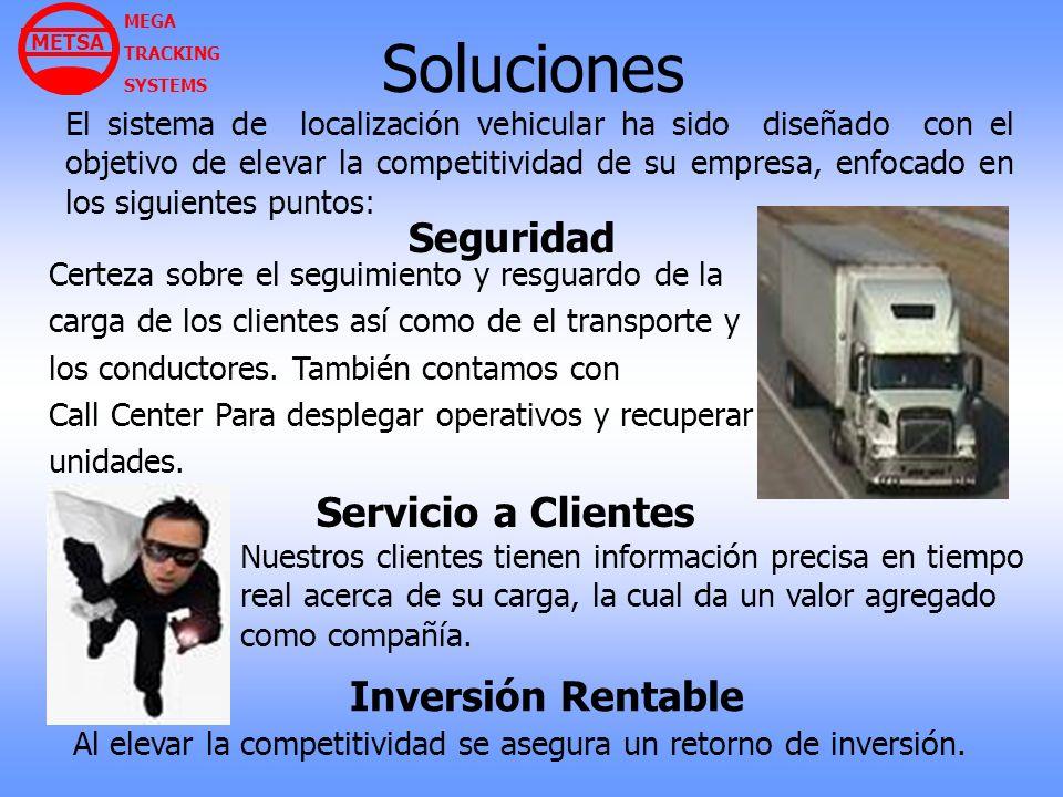 Soluciones El sistema de localización vehicular ha sido diseñado con el objetivo de elevar la competitividad de su empresa, enfocado en los siguientes