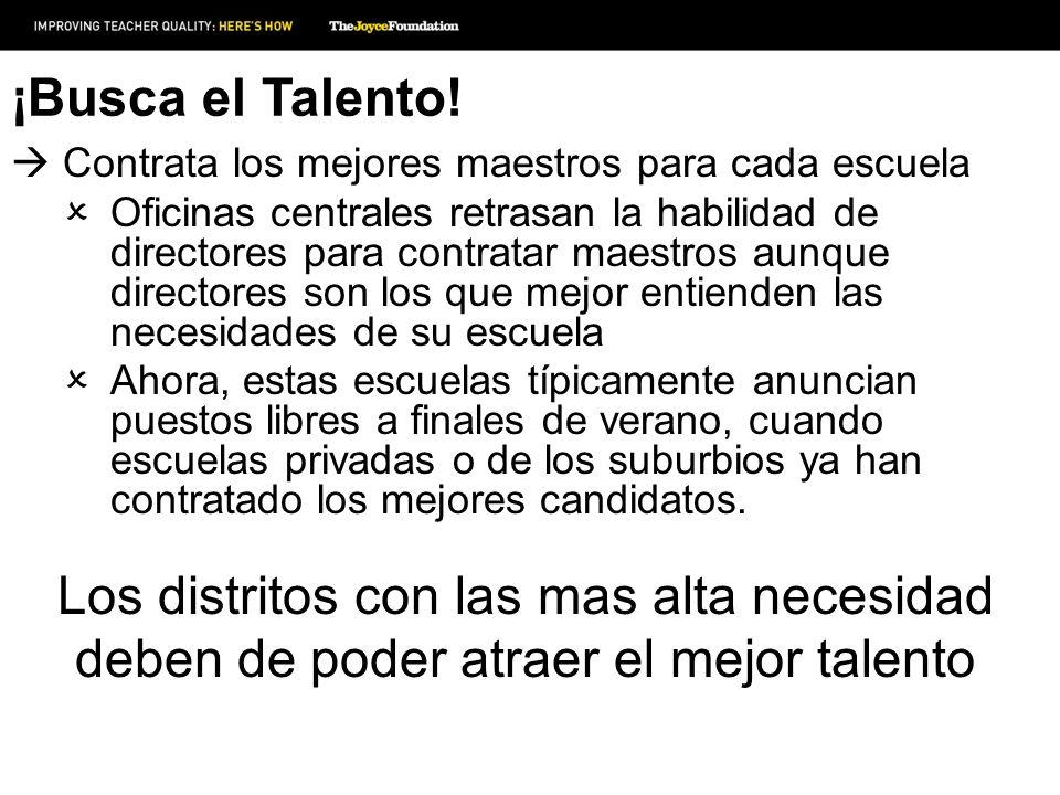 ¡Busca el Talento! Contrata los mejores maestros para cada escuela Oficinas centrales retrasan la habilidad de directores para contratar maestros aunq