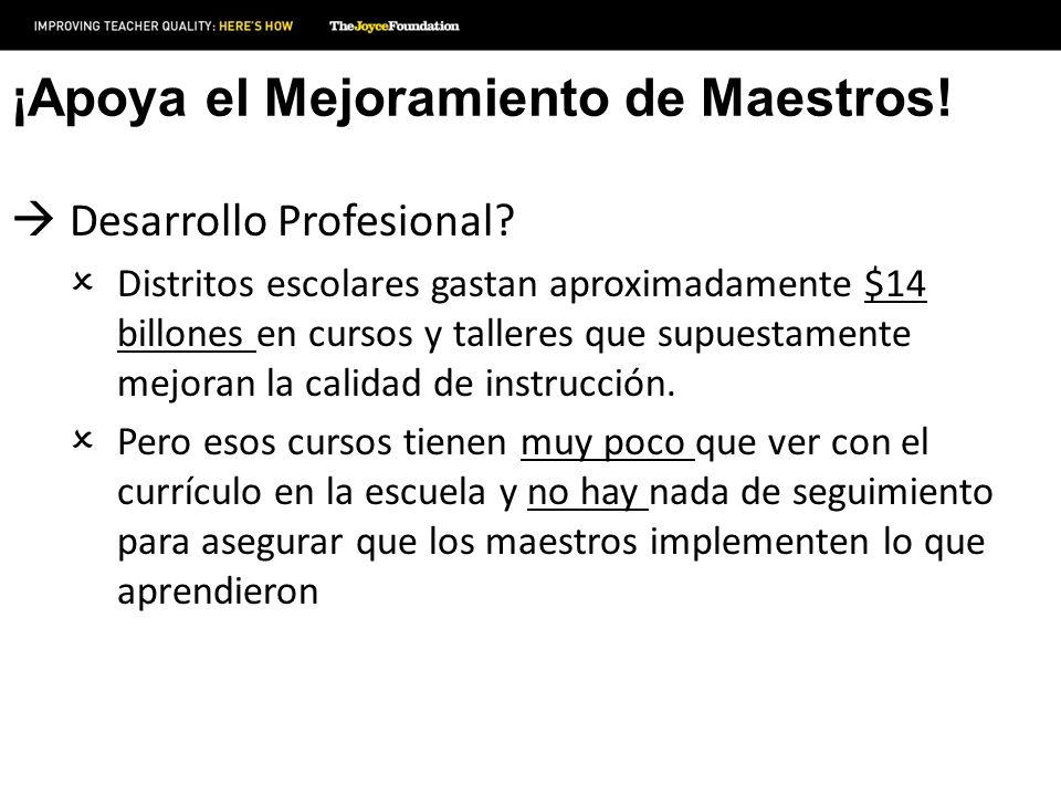 ¡Apoya el Mejoramiento de Maestros.Desarrollo Profesional.
