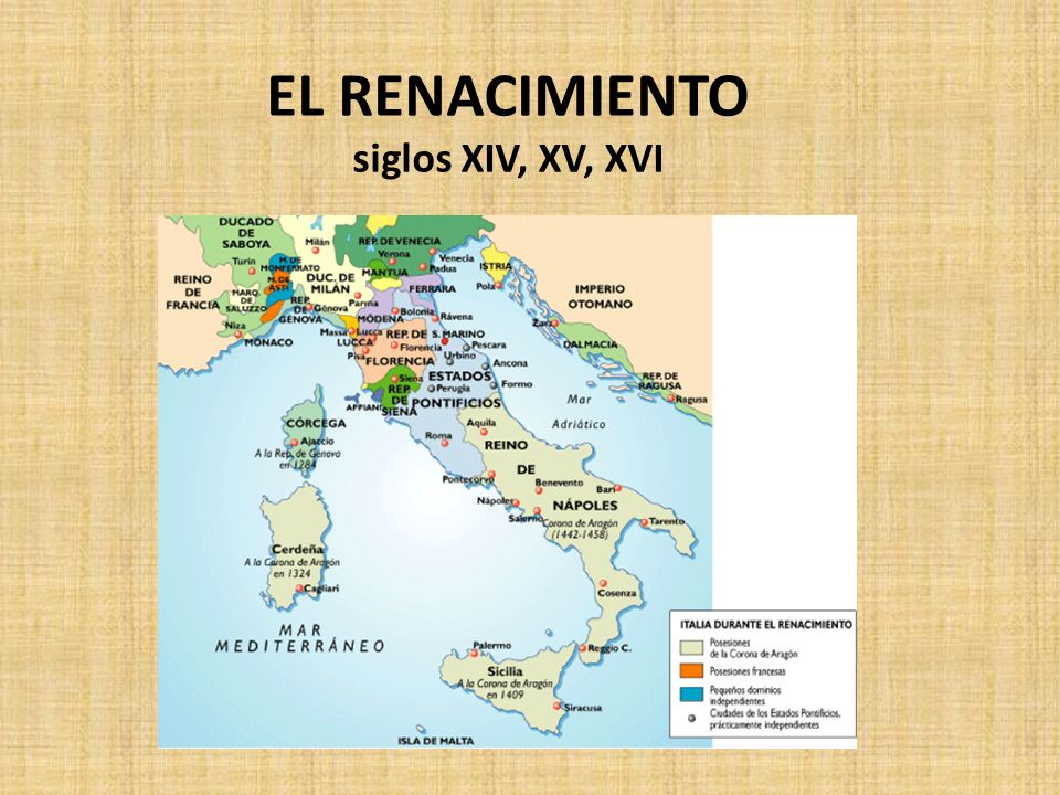 Etapas Renacimiento: Cuatrocentto en Florencia (s. XV). Cincuecentto en Roma (s. XVI)