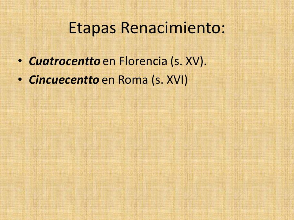 Sandro Boticelli El Nacimiento de Venus Características: Tema mitológico, trabajo figura humana (belleza, movimiento), interés por la naturaleza y perspectiva