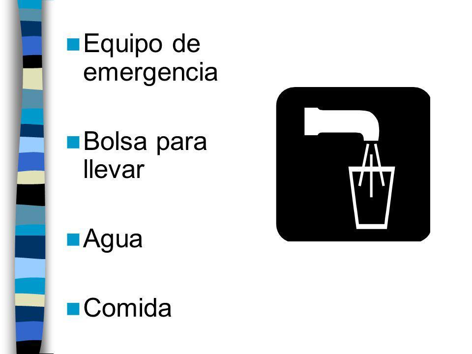 Evacuación Si los oficiales locales emiten ordenes de evacuaci ó n … sigan las ordenes! Lleve las llaves, tarjetas de crédito, mapas, celular con su c