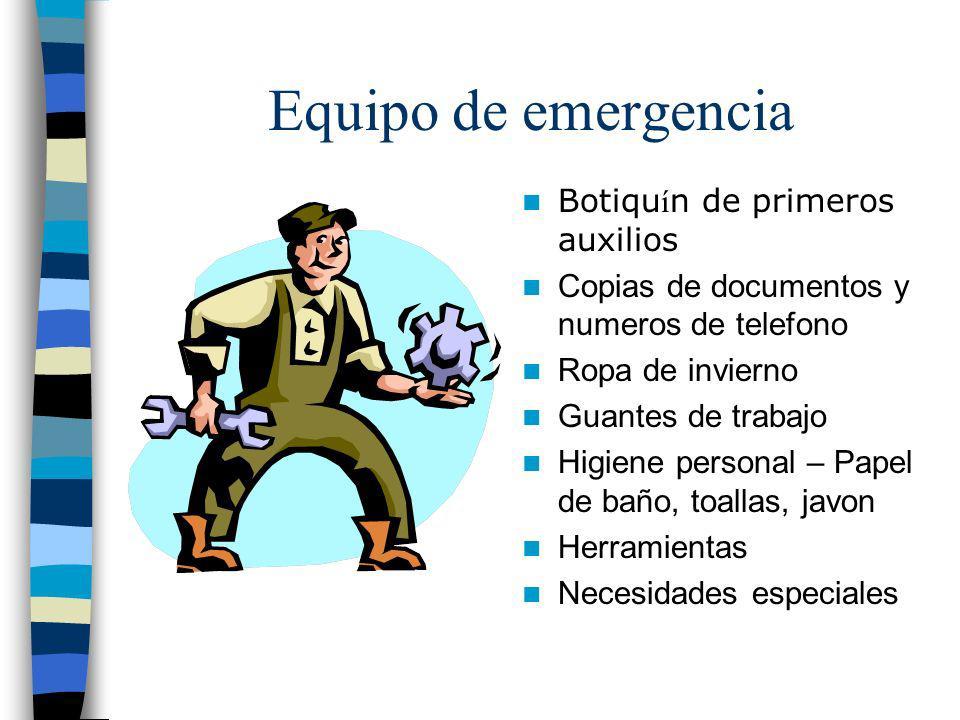 Equipo de emergencia Bolsa para llevar Agua Comida