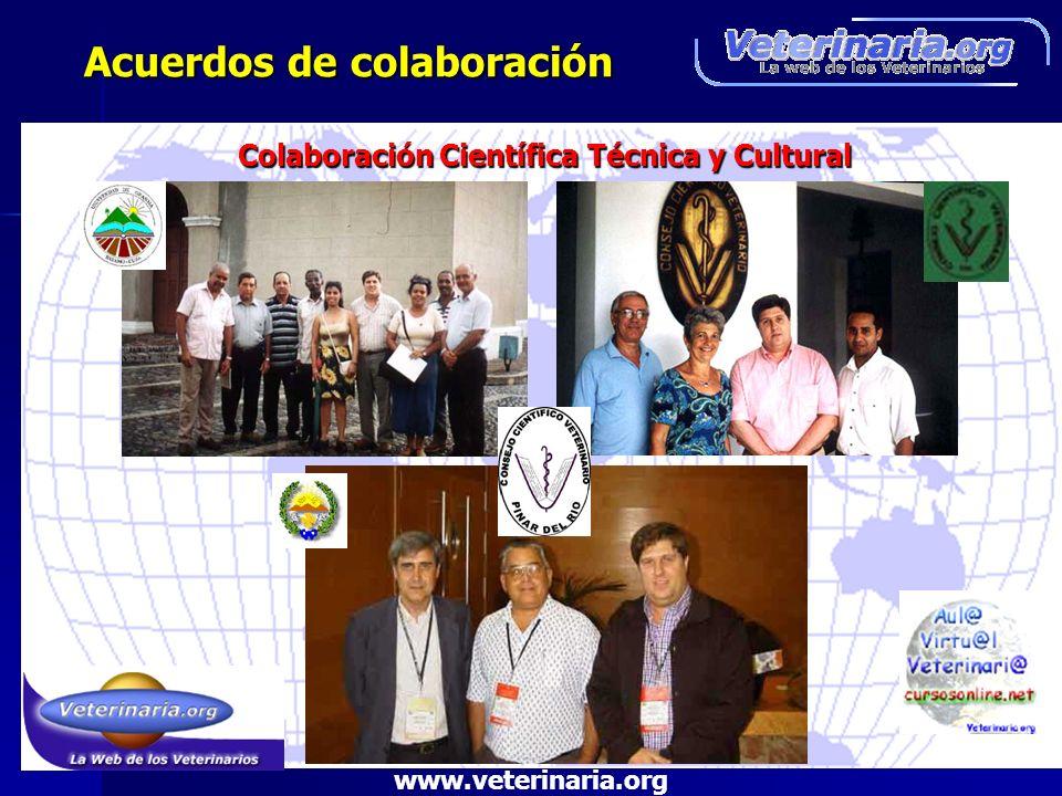 Acuerdos de colaboración Acuerdos de colaboración Colaboración Científica Técnica y Cultural www.veterinaria.org