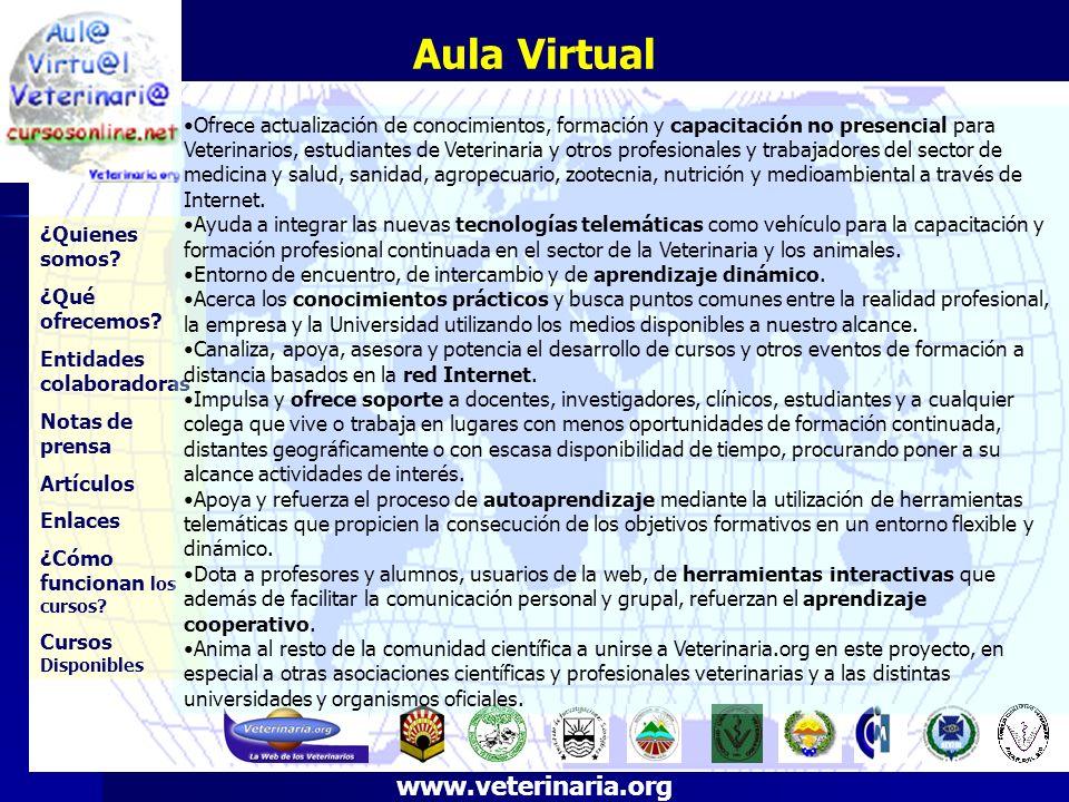 Aula Virtual ¿Quienes somos? ¿Qué ofrecemos? Entidades colaboradoras Notas de prensa Artículos Enlaces ¿Cómo funcionan los cursos? Cursos Disponibles