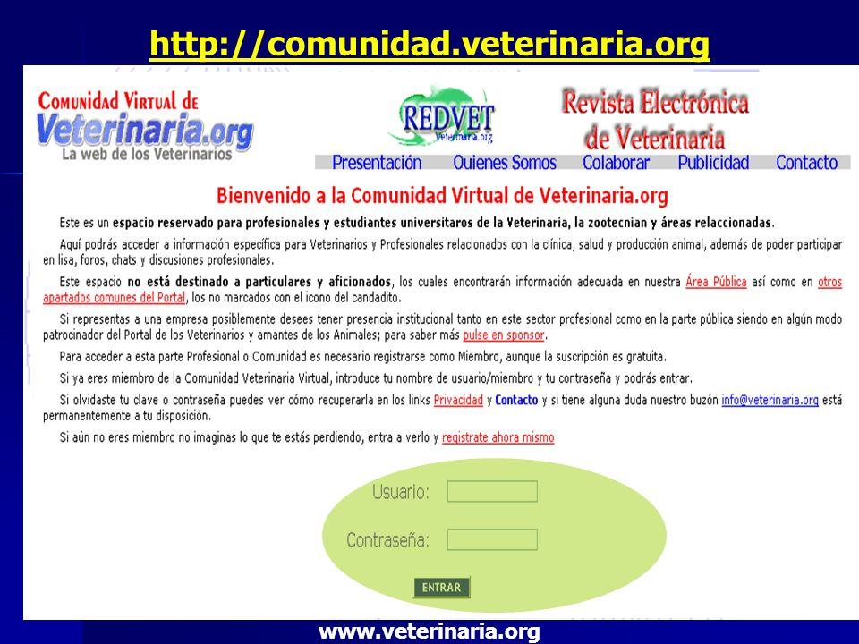 http://comunidad.veterinaria.org www.veterinaria.org