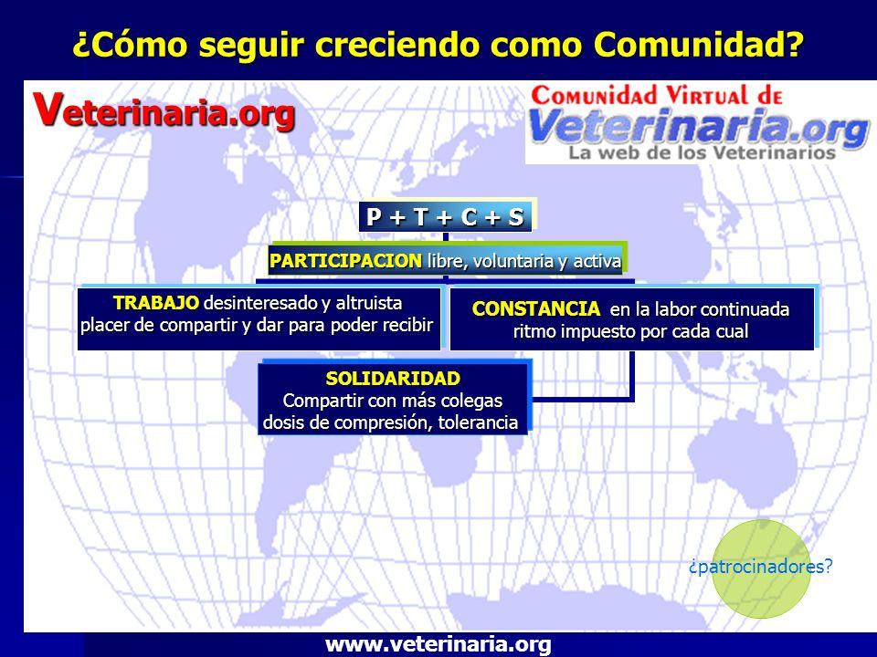 ¿Cómo seguir creciendo como Comunidad? V eterinaria.org www.veterinaria.org ¿patrocinadores?
