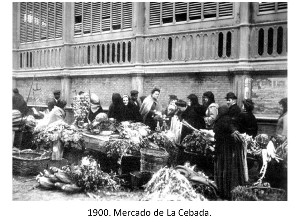 1900. Mercado de La Cebada.
