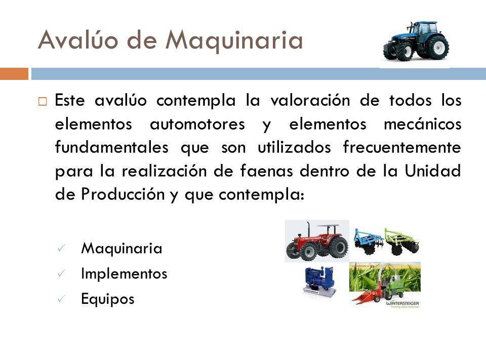 2.- Avalúo de Maquinaria