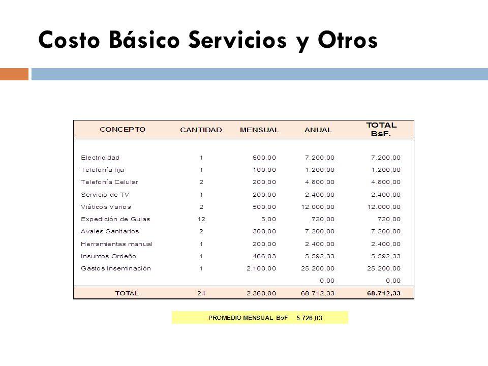COSTOS VARIABLES DETERMINACION DEL COSTO DE LOS SERVICIOS