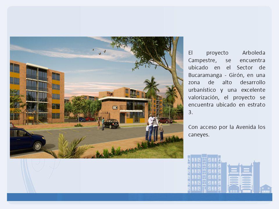 El proyecto Arboleda Campestre, se encuentra ubicado en el Sector de Bucaramanga - Girón, en una zona de alto desarrollo urbanístico y una excelente v