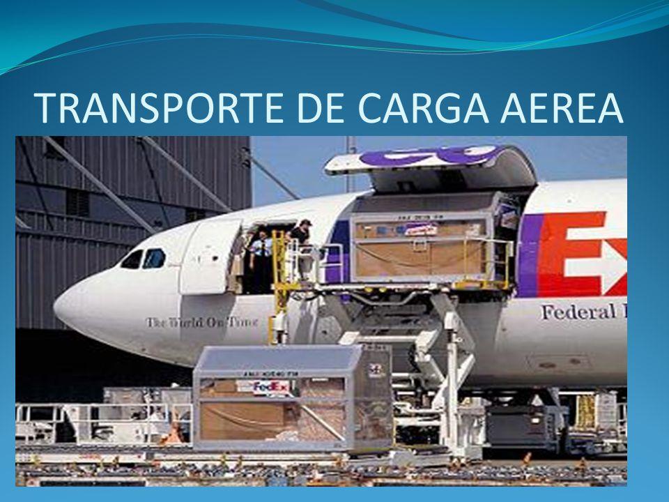 TRANSPORTE AEREO El transporte aéreo o transporte por avión es el servicio de trasladar de un lugar a otro pasajeros, cargamento, mediante la utilización de aeronaves, con fin lucrativo.
