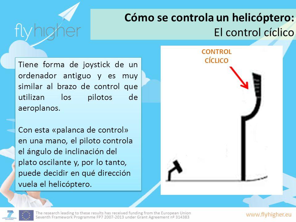 www.flyhigher.eu Tiene forma de joystick de un ordenador antiguo y es muy similar al brazo de control que utilizan los pilotos de aeroplanos. Con esta