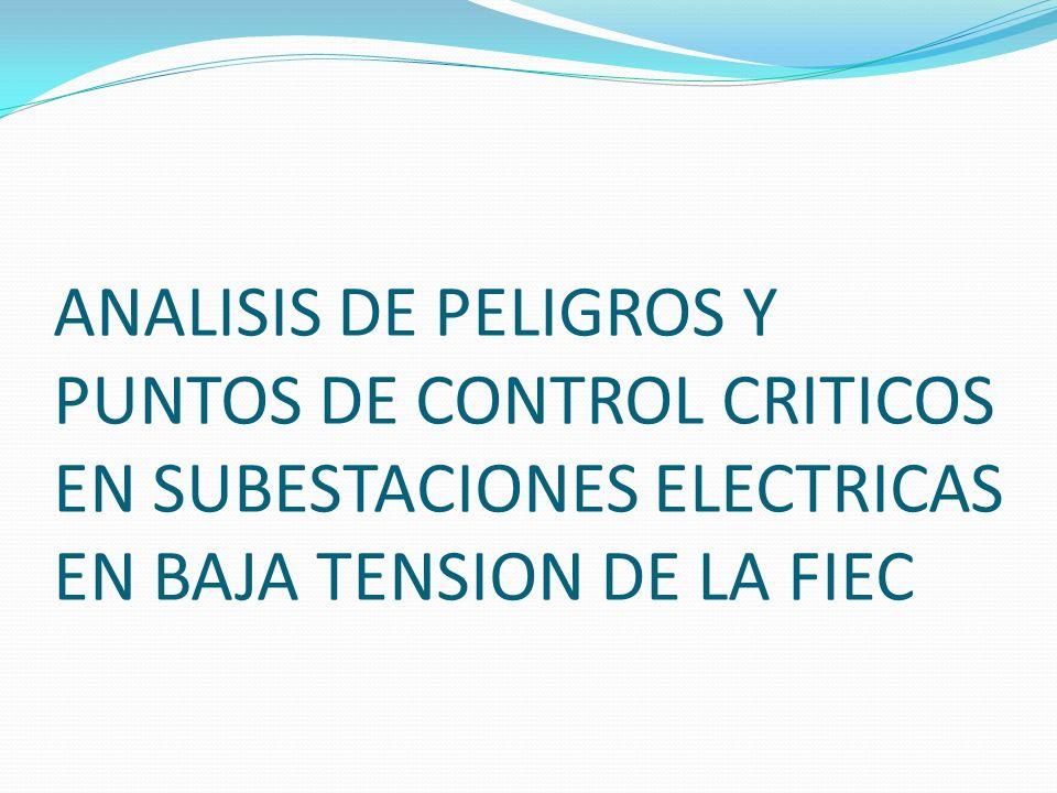 Tablero de distribución de Subestación Eléctrica C/T 22