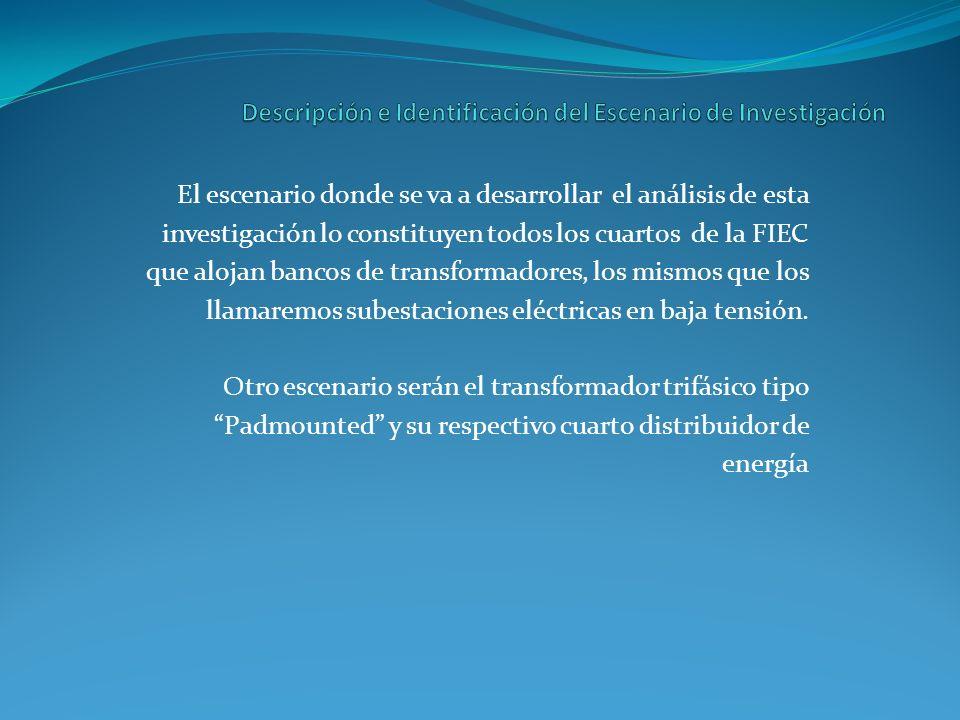 El escenario donde se va a desarrollar el análisis de esta investigación lo constituyen todos los cuartos de la FIEC que alojan bancos de transformado