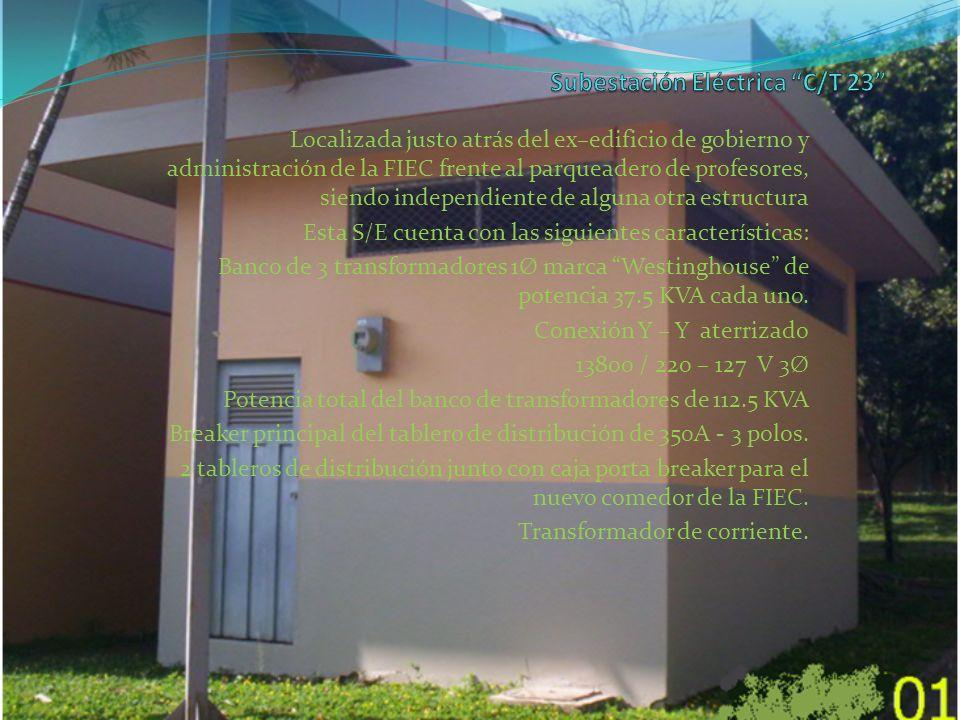 Localizada justo atrás del ex–edificio de gobierno y administración de la FIEC frente al parqueadero de profesores, siendo independiente de alguna otr