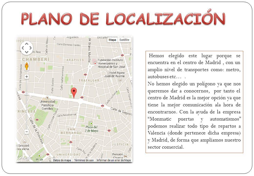 Hemos elegido este lugar porque se encuentra en el centro de Madrid, con un amplio nivel de transportes como: metro, autobuses etc….