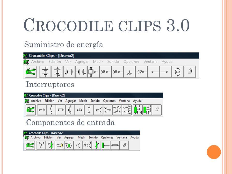C ROCODILE CLIPS 3.0 Suministro de energía Interruptores Componentes de entrada