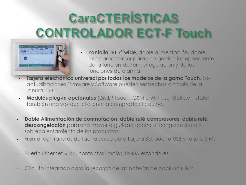 Pantalla TFT 7wide, doble alimentación, doble microprocesador para una gestión independiente de la función de termorregulación y de las funciones de alarma.