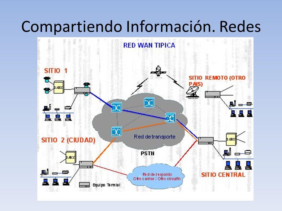 Compartiendo Información. Redes