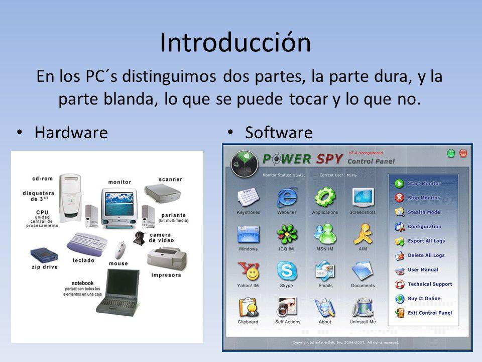 El sistema operativo HARDWARE Componentes físicos, parte de ellos están a la vista.