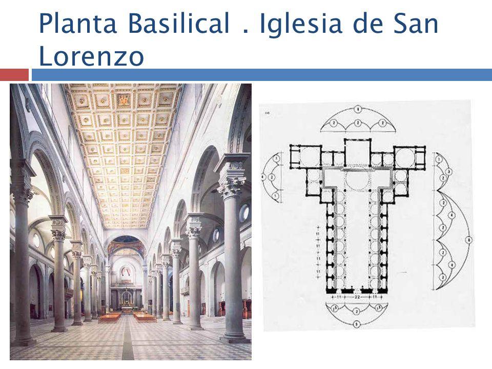 Planta Basilical. Iglesia de San Lorenzo