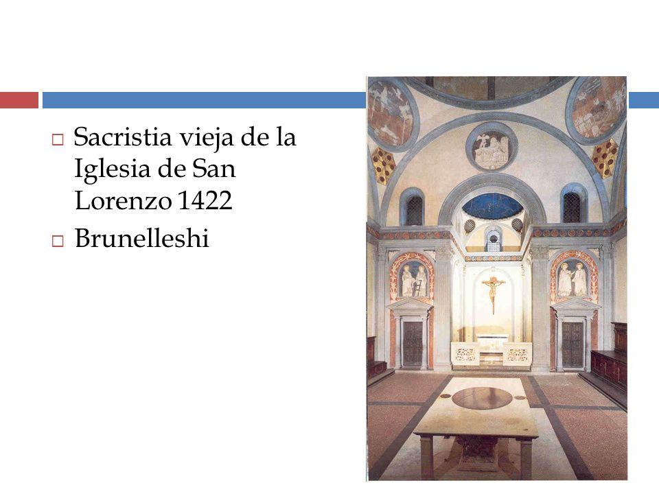 Sacristia vieja de la Iglesia de San Lorenzo 1422 Brunelleshi