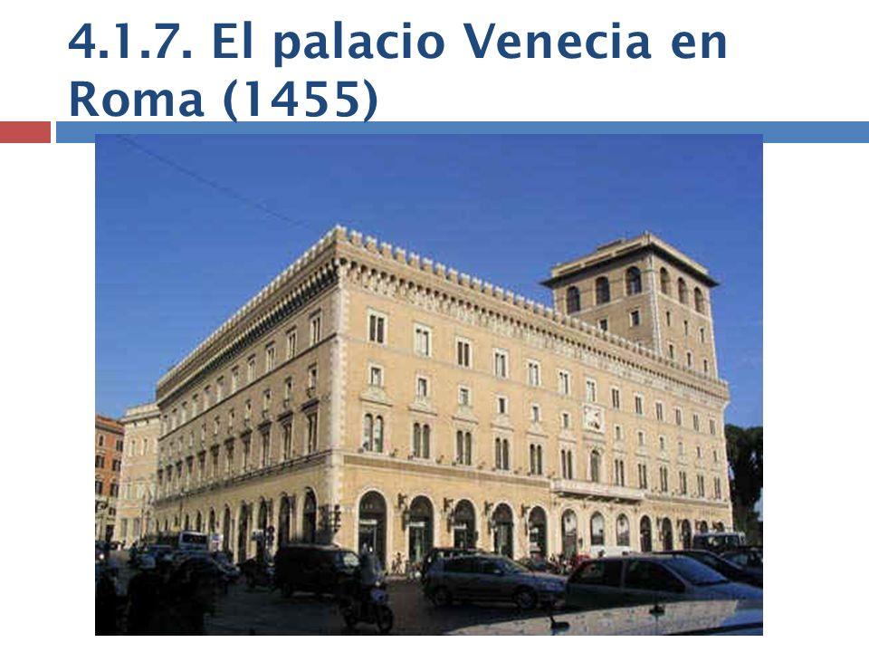 4.1.7. El palacio Venecia en Roma (1455)