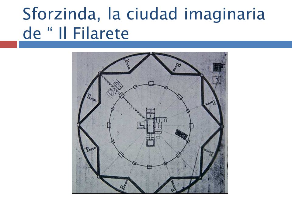 Sforzinda, la ciudad imaginaria de Il Filarete
