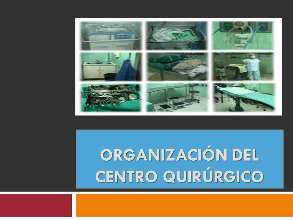 ORGANIZACIÓN DEL CENTRO QUIRÚRGICO