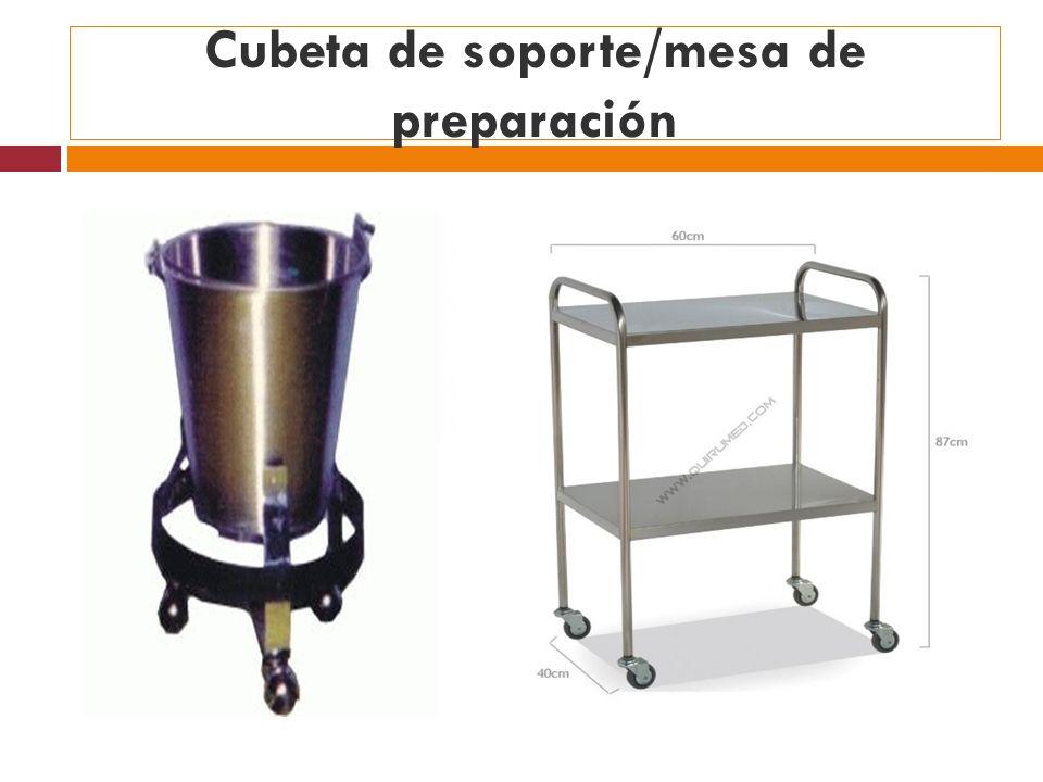 Cubeta de soporte/mesa de preparación