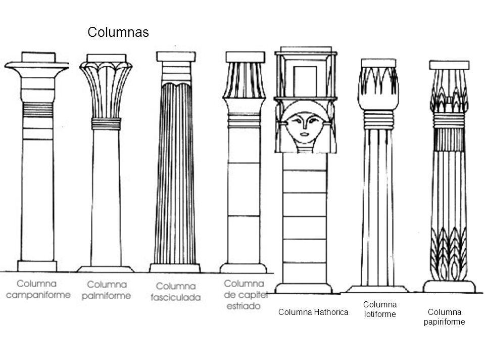 Columna Hathorica Columna lotiforme Columna papiriforme Columnas