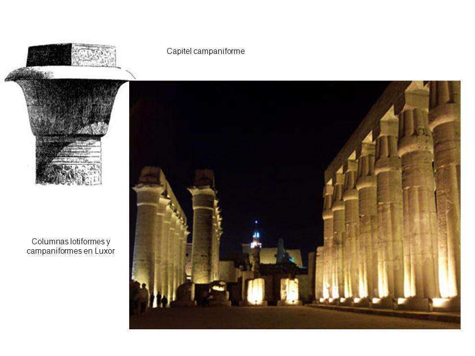 Capitel campaniforme Columnas lotiformes y campaniformes en Luxor