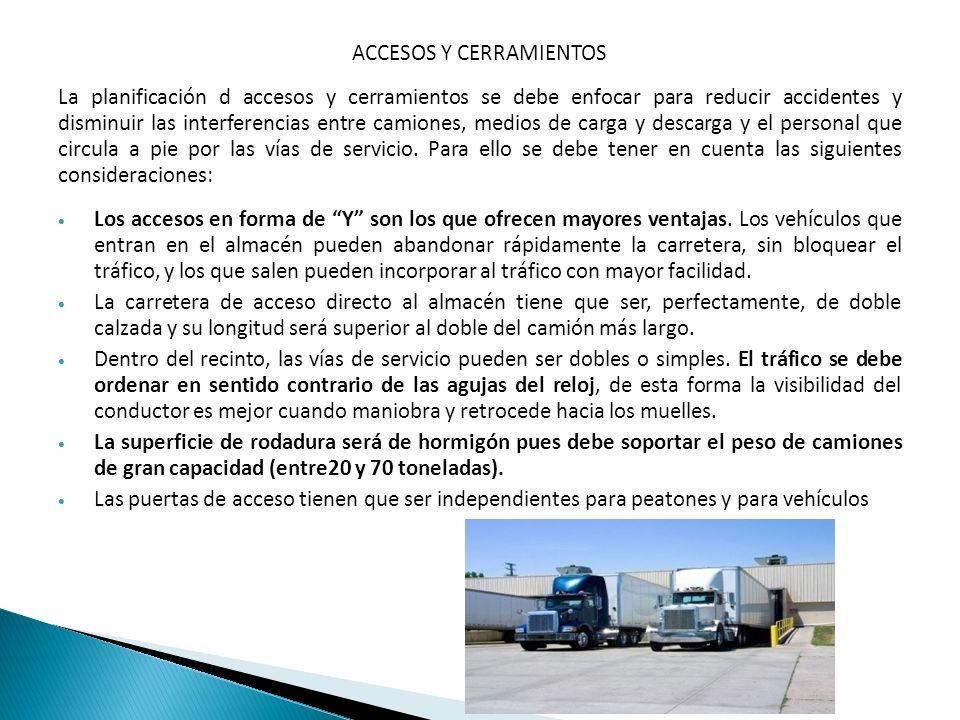 ACCESOS Y CERRAMIENTOS La planificación d accesos y cerramientos se debe enfocar para reducir accidentes y disminuir las interferencias entre camiones