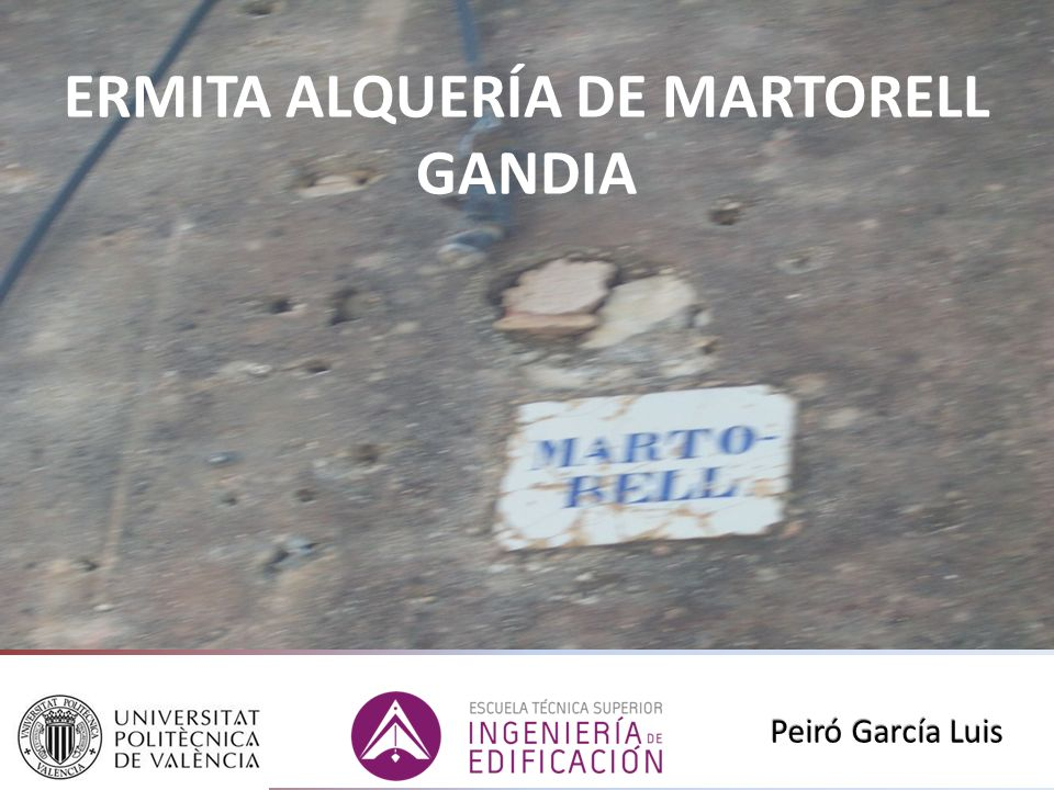 ERMITA ALQUERÍA DE MARTORELL GANDIA Peiró García Luis