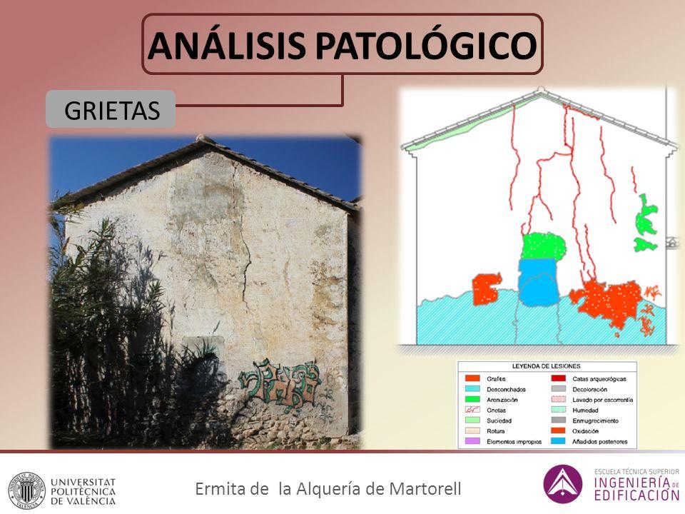 ANÁLISIS PATOLÓGICO GRIETAS Ermita de la Alquería de Martorell