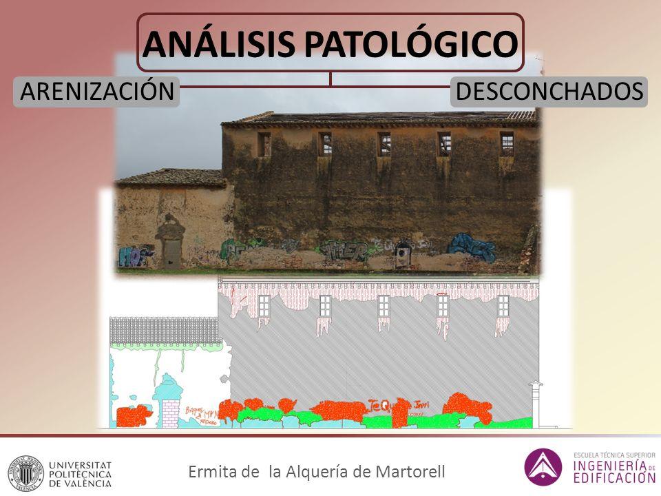 ANÁLISIS PATOLÓGICO ARENIZACIÓNDESCONCHADOS Ermita de la Alquería de Martorell