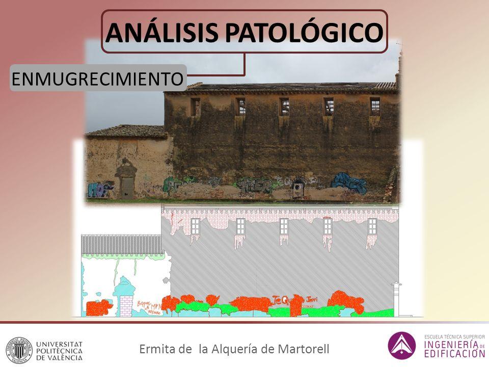 ANÁLISIS PATOLÓGICO Ermita de la Alquería de Martorell ENMUGRECIMIENTO