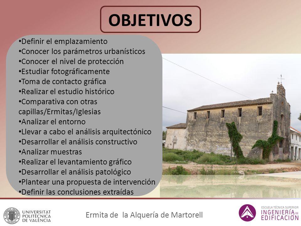 CONTEXTO HISTÓRICO 5. Años 1905-1909: Ermita de Martorell Ermita de la Alquería de Martorell