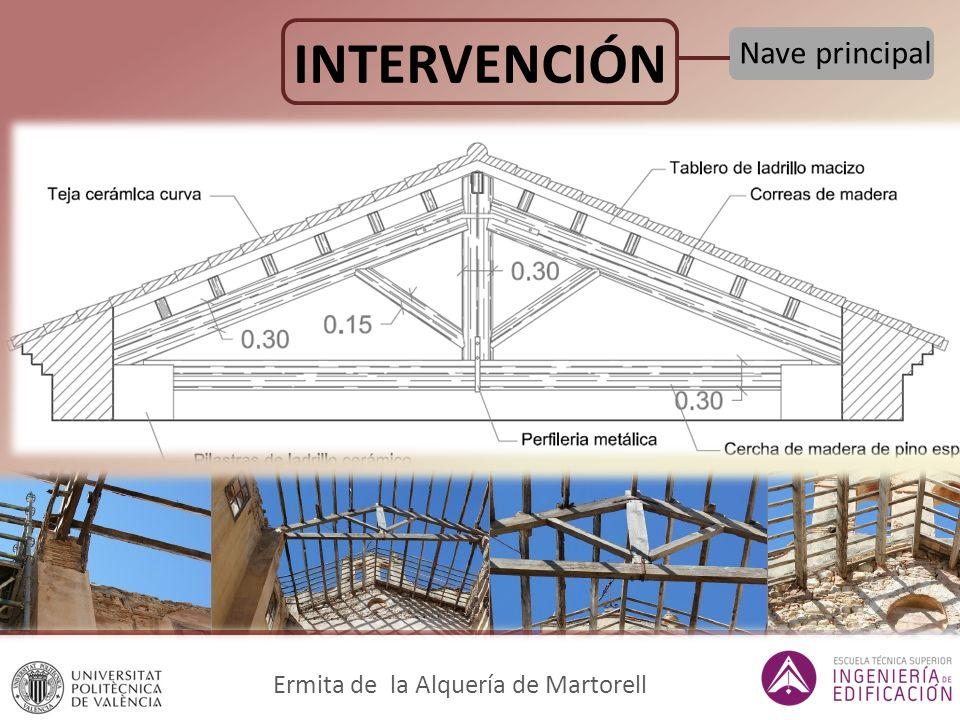 INTERVENCIÓN Nave principal Ermita de la Alquería de Martorell