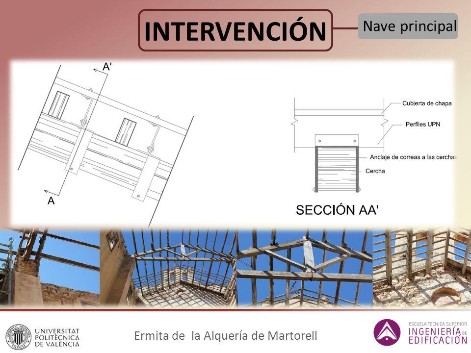 Ermita de la Alquería de Martorell INTERVENCIÓN Nave principal