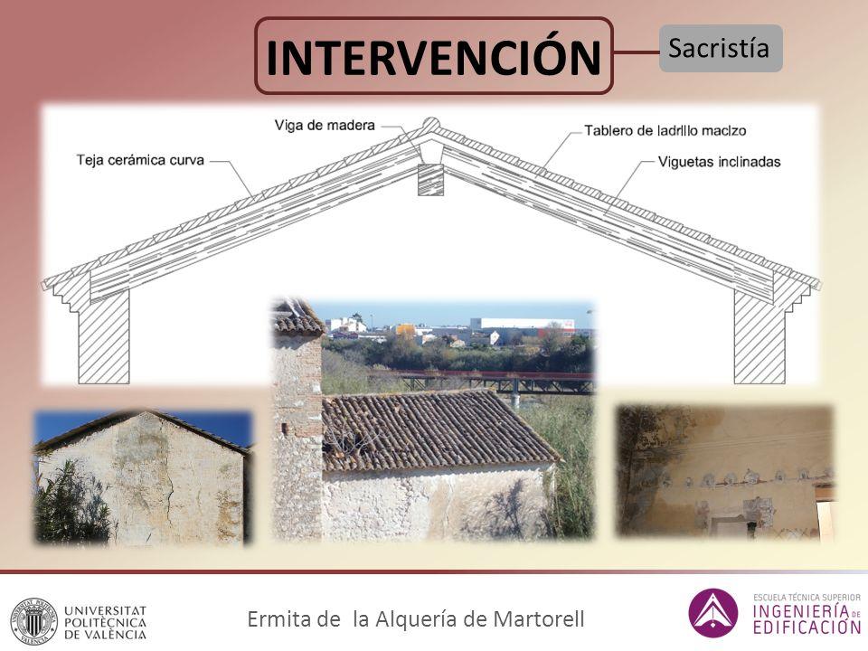 Ermita de la Alquería de Martorell INTERVENCIÓN Sacristía
