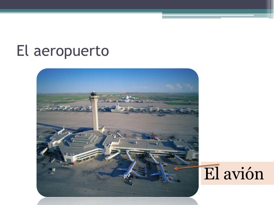 En el aeropuerto… El mostrador La seguridad