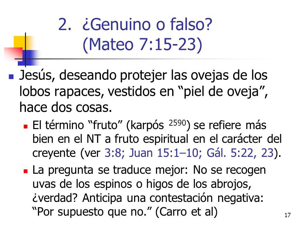 17 Jesús, deseando protejer las ovejas de los lobos rapaces, vestidos en piel de oveja, hace dos cosas.