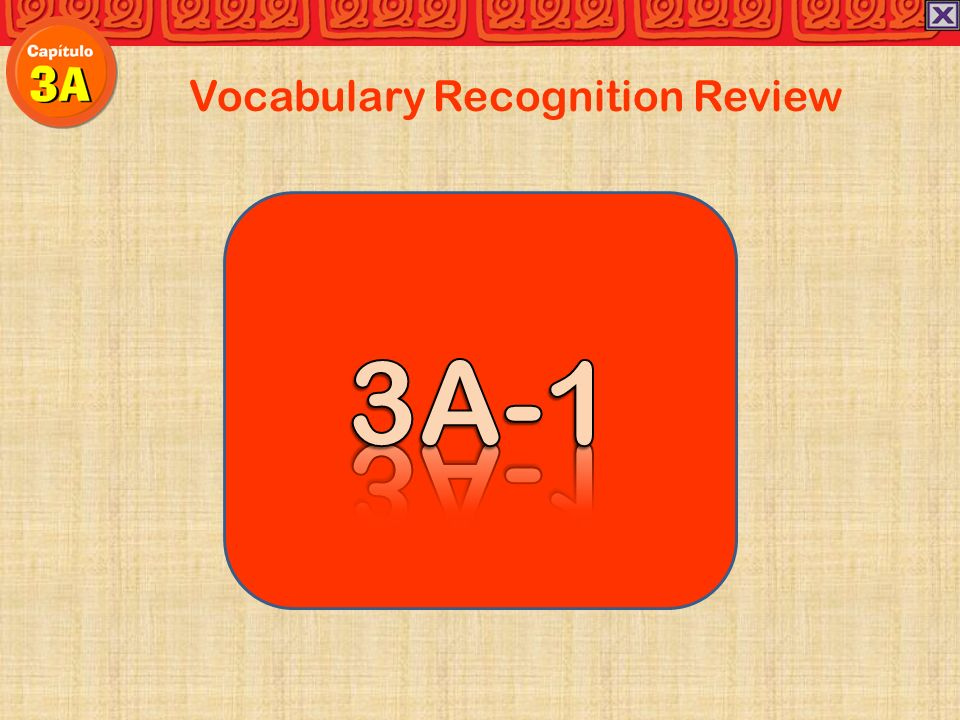 Vocabulary Recognition Review Carolina:Después de comer, mi abuela los platos en la cocina.